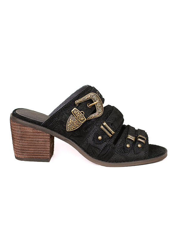 *NEW* Mitski Leather Sandal in Black