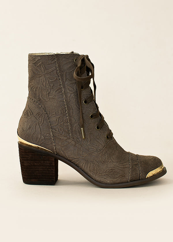 *NEW* Bonnie Boot in Espresso Carved Suede