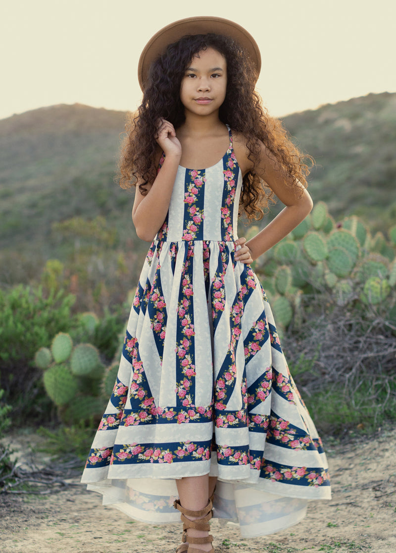 Brandi Dress in Floral Stripe