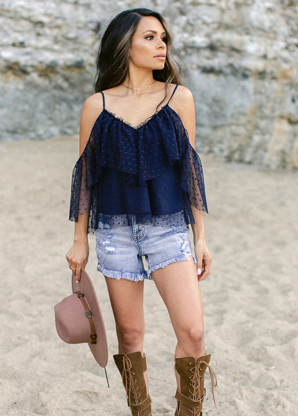 *NEW* Niah Top in Ombre Blue