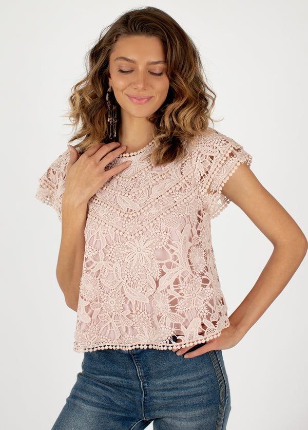 *NEW* Charro Top in Rose Smoke