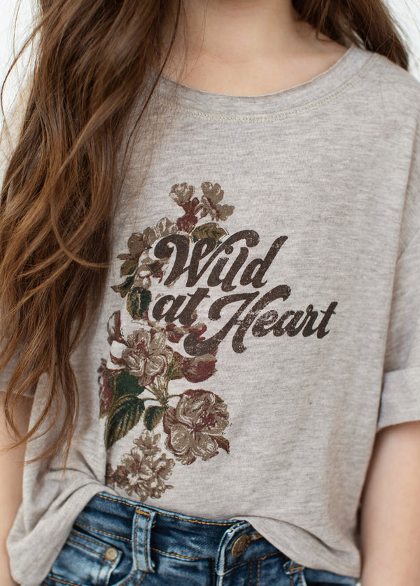 *NEW* Wild At Heart Top in Heathered Taupe