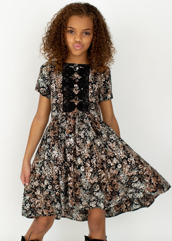 *NEW* Allyza Dress in Black Camo Floral