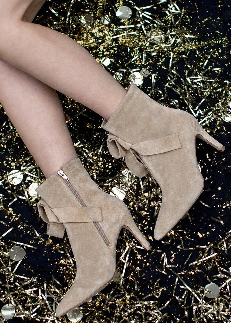 Cadence Booties in Tan