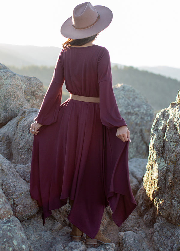 *NEW* Capria Dress in Burgundy