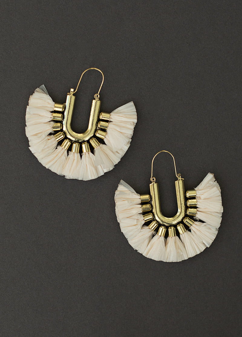 *NEW* Cayman Earrings in Cream