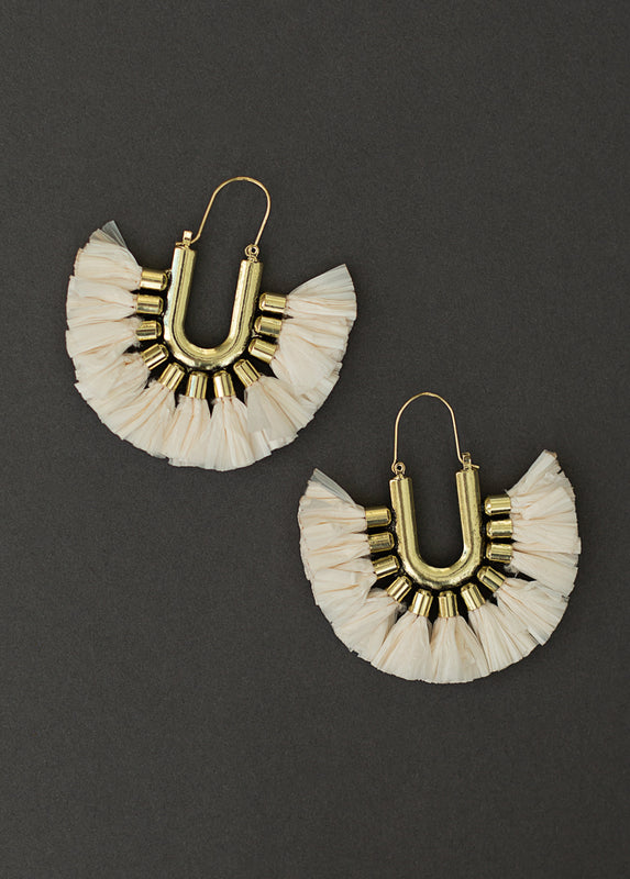 Cayman Earrings in Cream
