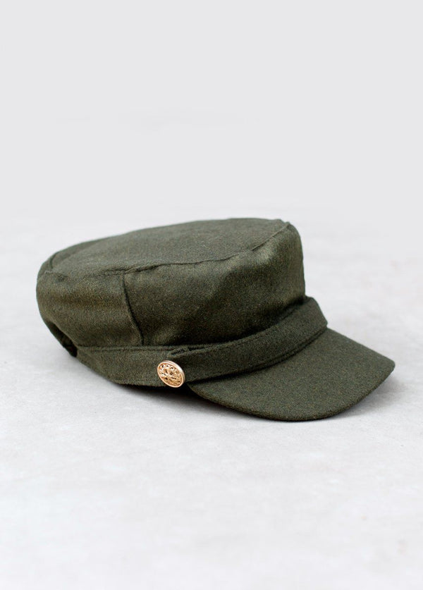 Elsie Military Newsboy Cap
