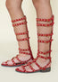 Celyn Studded Gladiator in Poppy