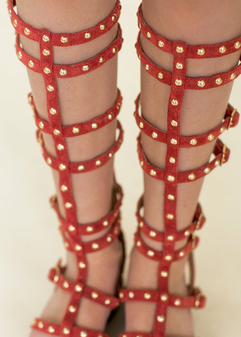 *NEW* Celyn Studded Gladiator in Mesa Rose