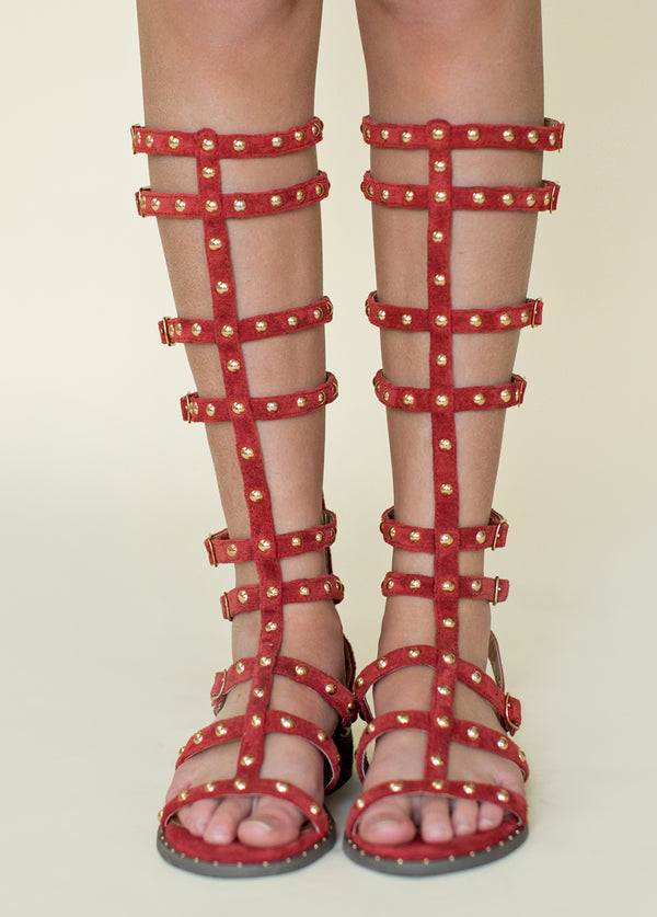 *NEW* Celyn Studded Gladiator in Poppy