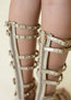 Celyn Studded Gladiator in Gold