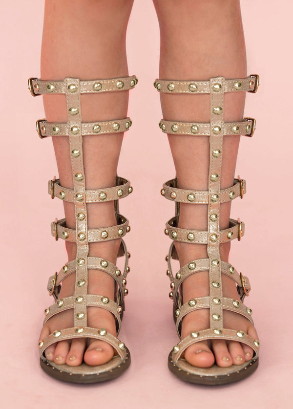 *NEW* Celyn Studded Gladiator in Gold