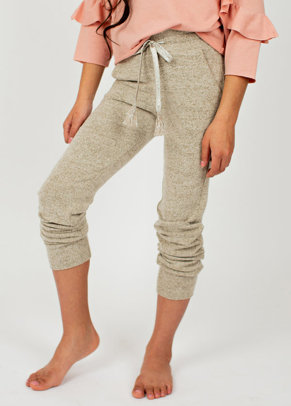 Chantal Jogger in Heathered Oat