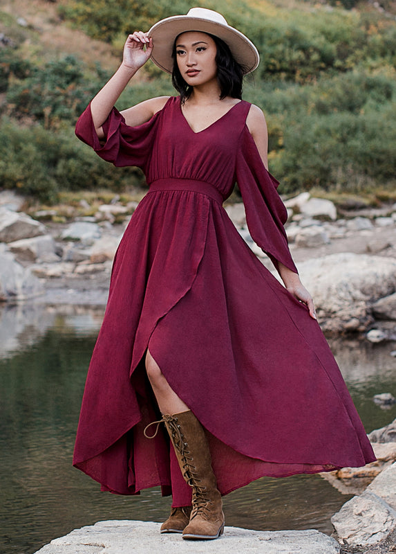 Charlie Dress in Red Mauve