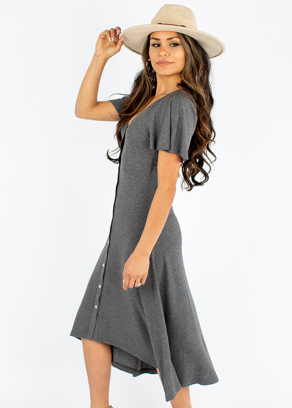 *NEW* Clover Dress in Heather Charcoal