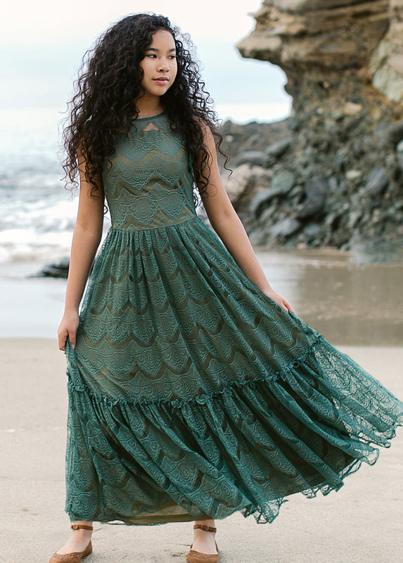 *NEW* Corinna Maxi Dress in Sea Pine