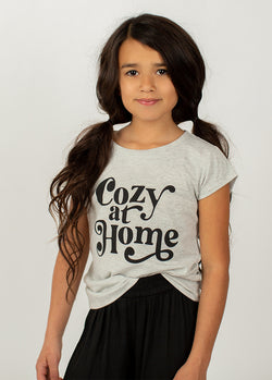 *NEW* Cozy At Home Tee in Gray Oat Heather