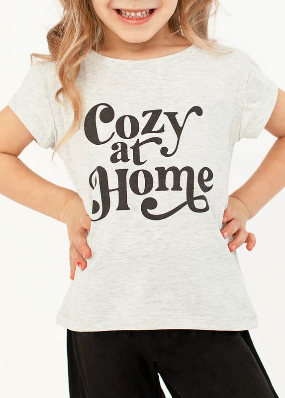 Cozy At Home Tee in Gray Oat Heather