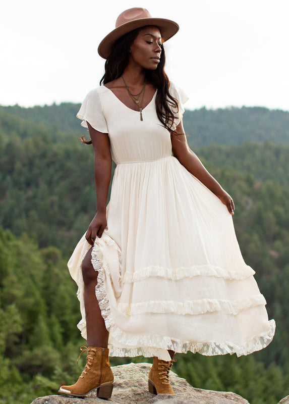 Cressa Dress in Ivory