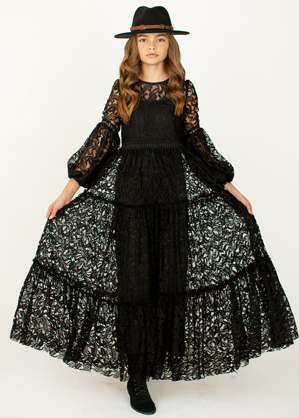 *NEW* Cybele Dress in Black Lace