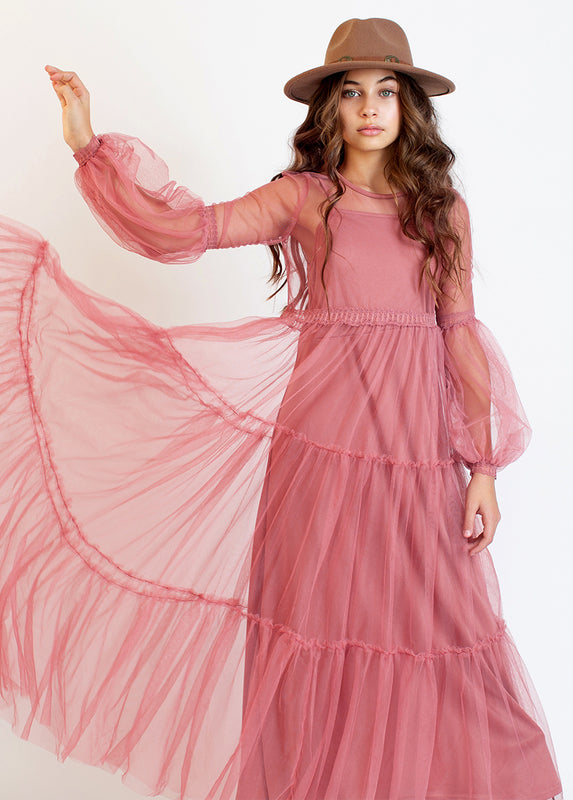Cybele Dress in Pink Mauve