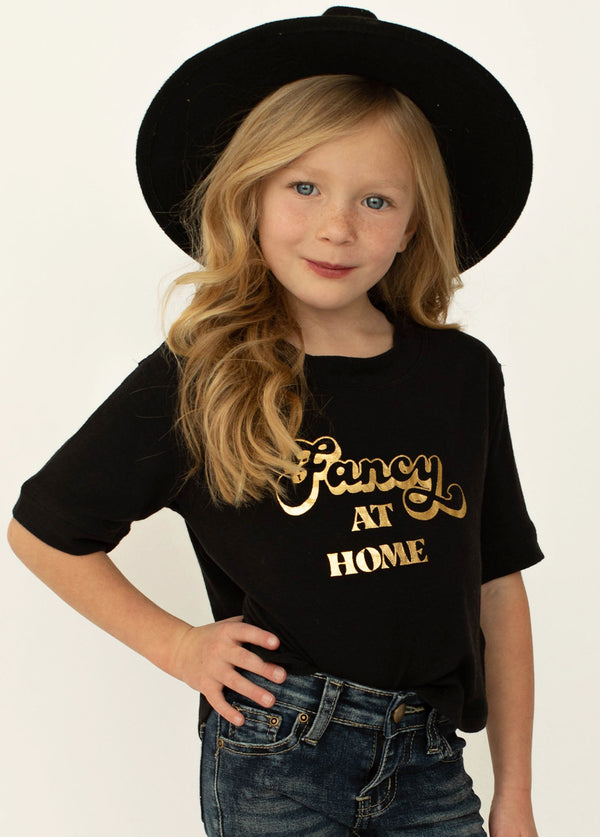 Fancy at Home Top in Black