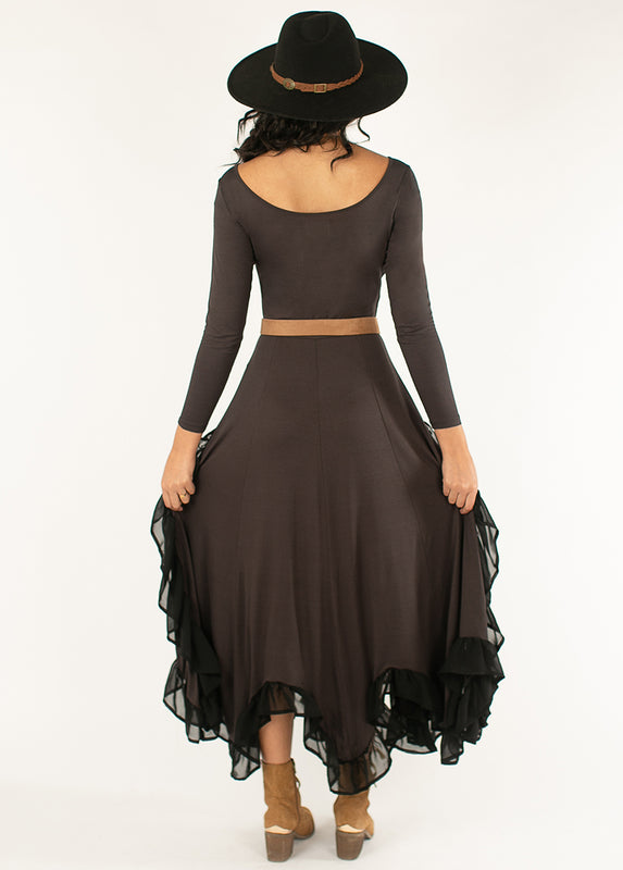 *NEW* Dandy Dress in Washed Black