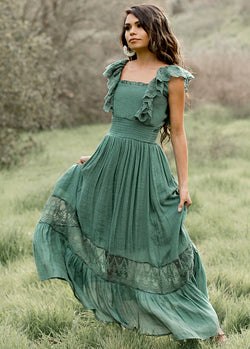 *SOLD OUT* Dawn Dress in Sage