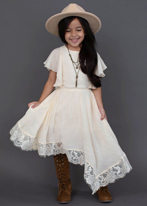 *NEW* Lakynna Dress in Bone White