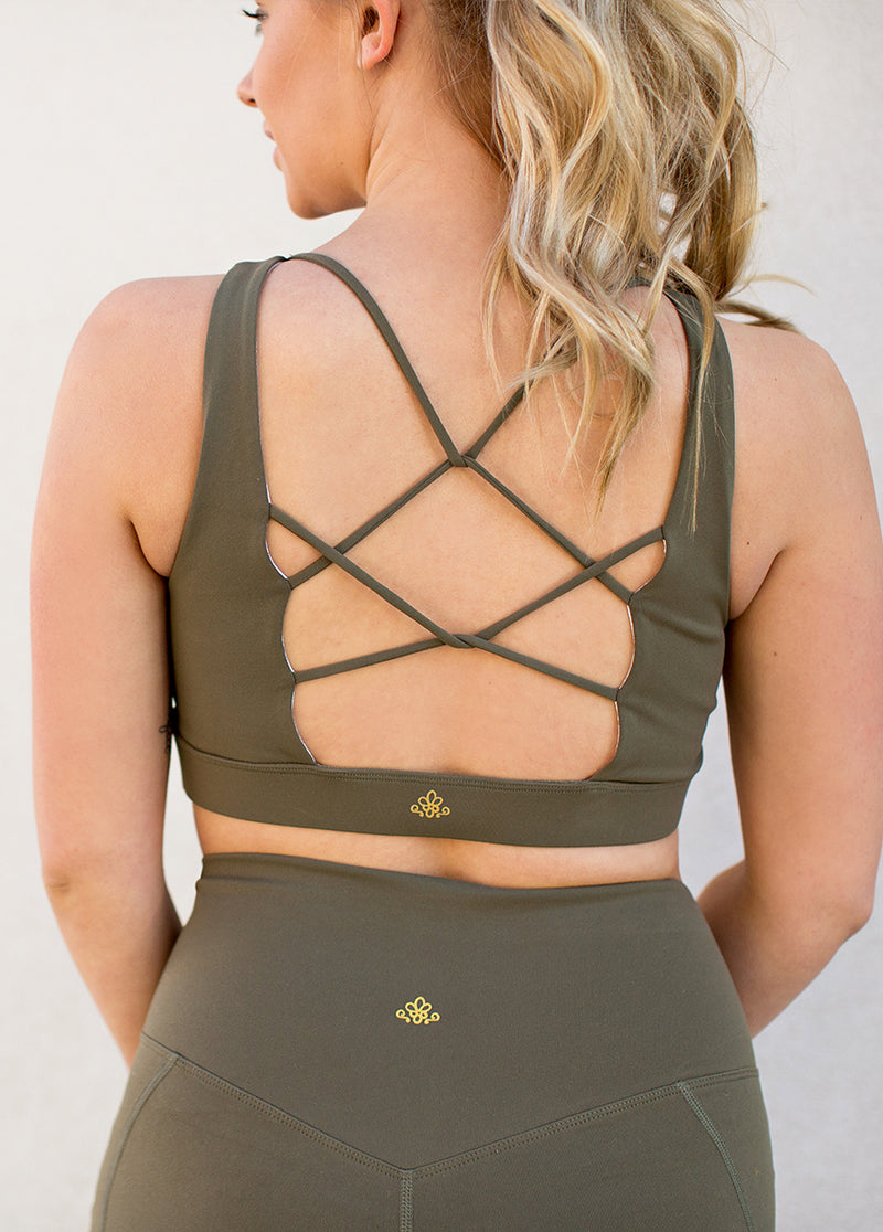 Elix Sports Bra in Olive
