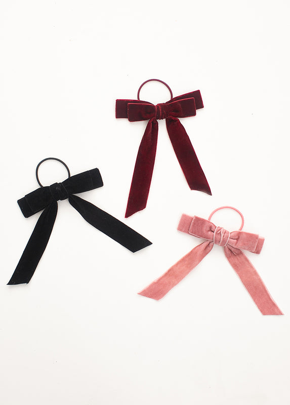 *NEW* Elyse Bow Hair Tie in Blush