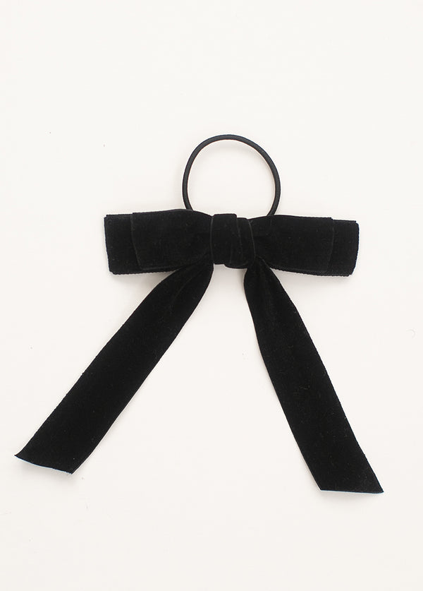 *NEW* Elyse Bow Hair Tie in Black