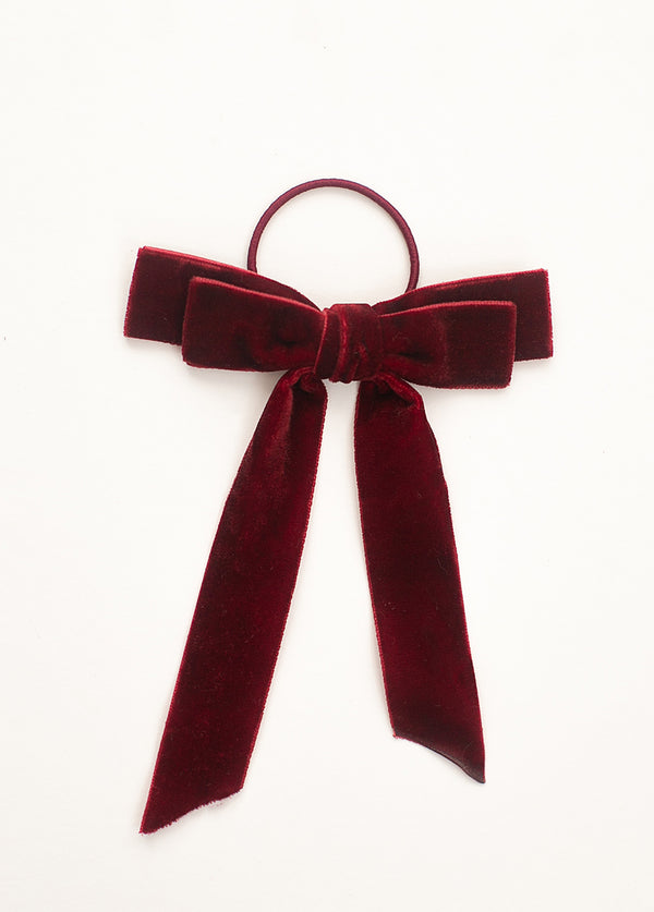 *NEW* Elyse Bow Hair Tie in Burgundy