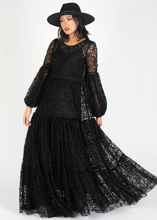 *NEW* Ember Dress in Black Lace