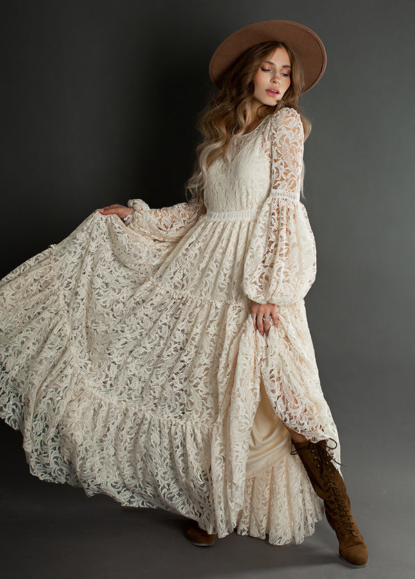 *NEW* Ember Dress in Ivory Lace