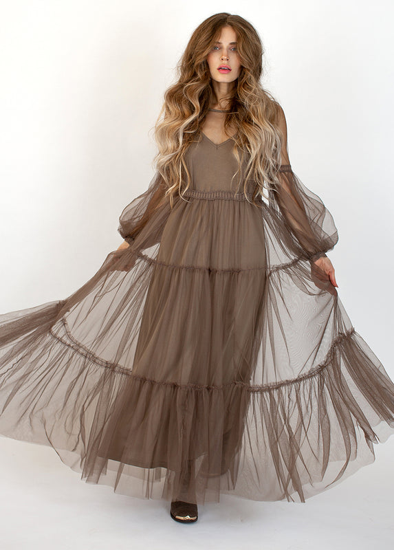 Ember Dress in Taupe