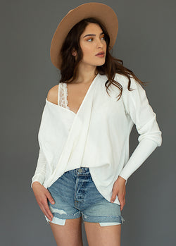 Emma Top in Ivory