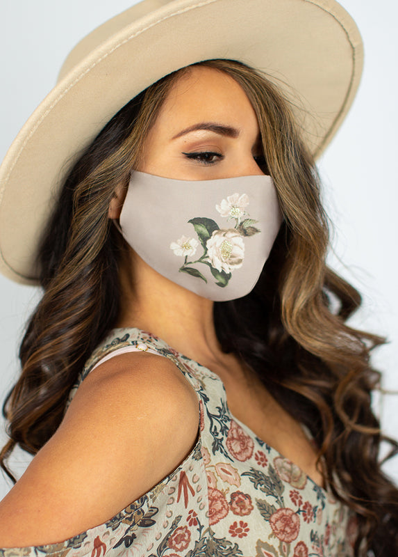 Women's Evanthe Mask in Warm Taupe