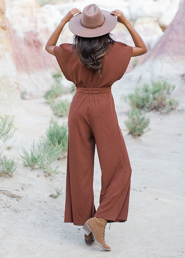 *NEW* Everlynne Jumpsuit in Brown Clay