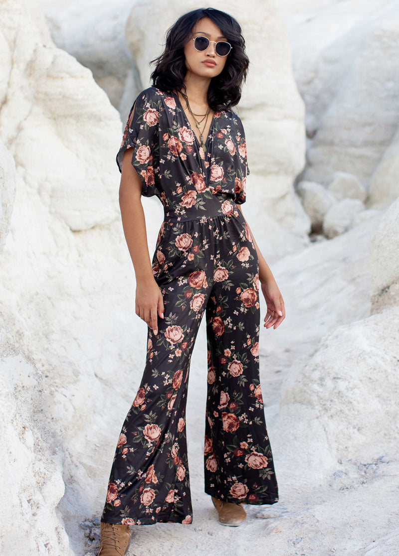 *NEW* Everlynne Jumpsuit in Black Floral