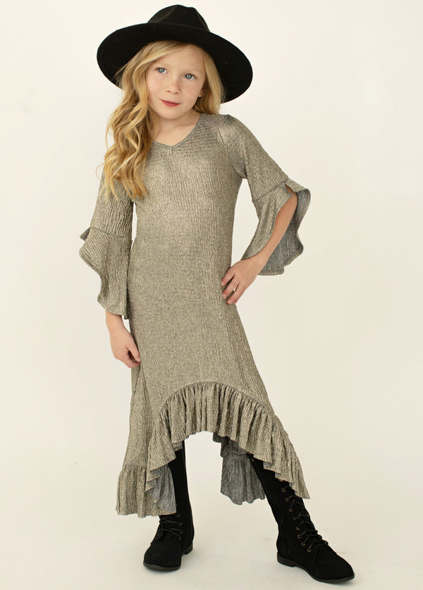 Ayanna Dress in Sparkle Silver