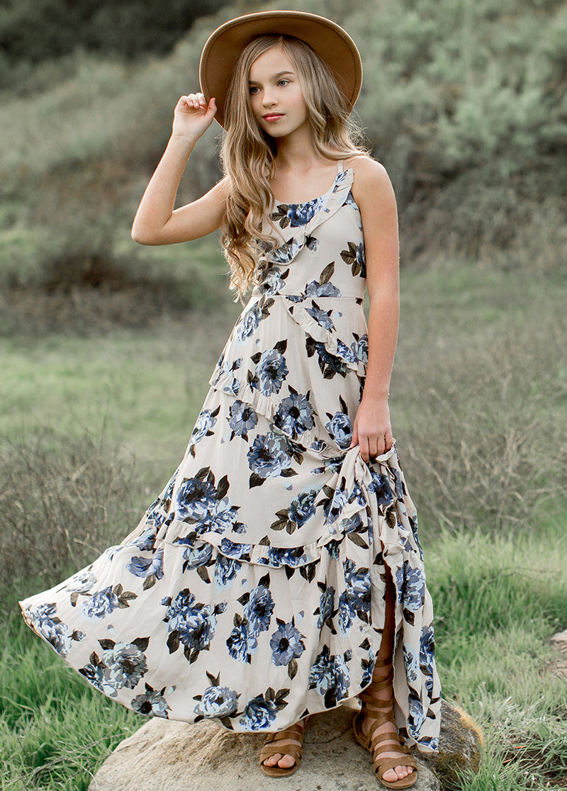 Fae Dress in Blue Greta Floral