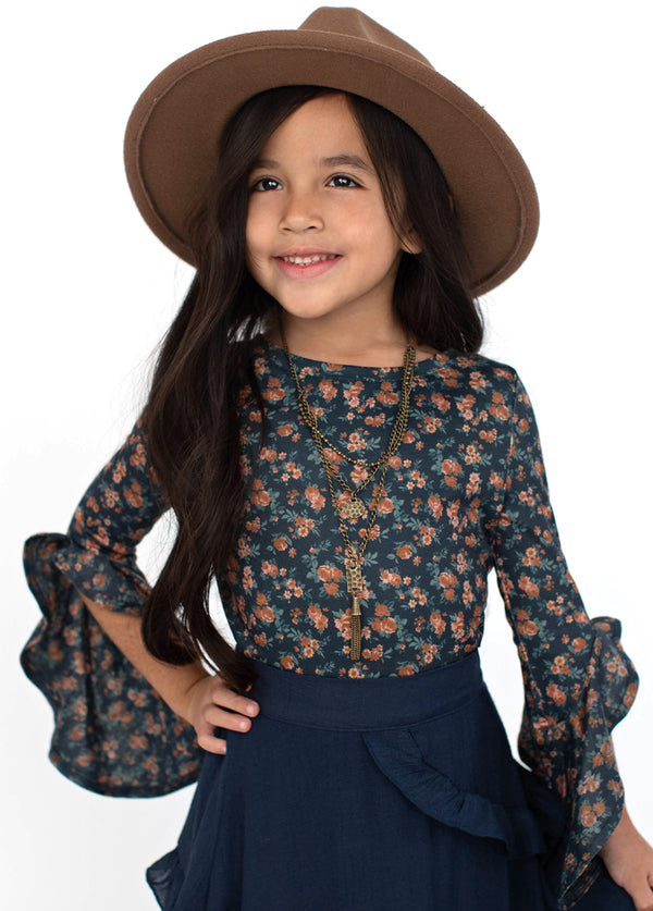 *NEW* Fawna Top in Navy Ditsy Floral