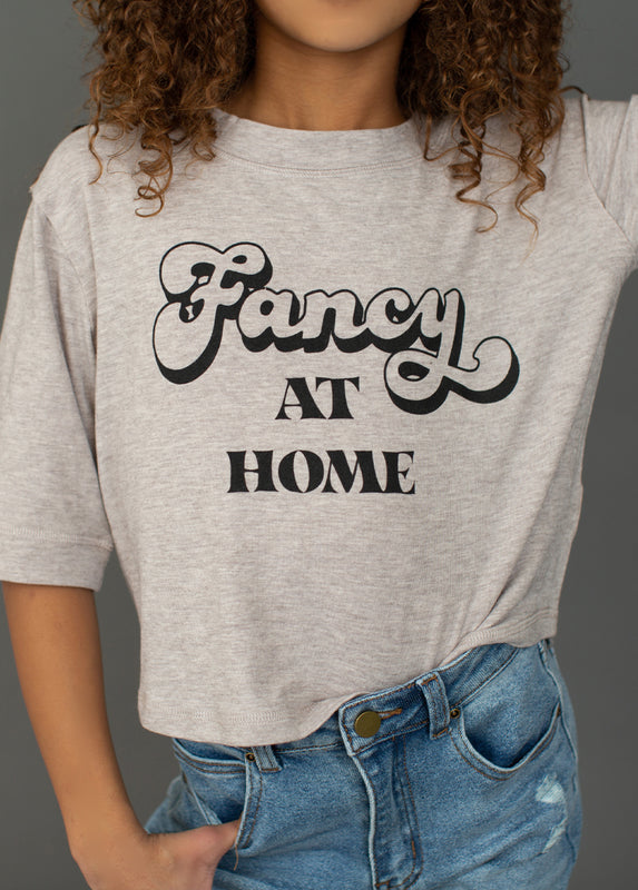 Fancy at Home Top in Heather Taupe