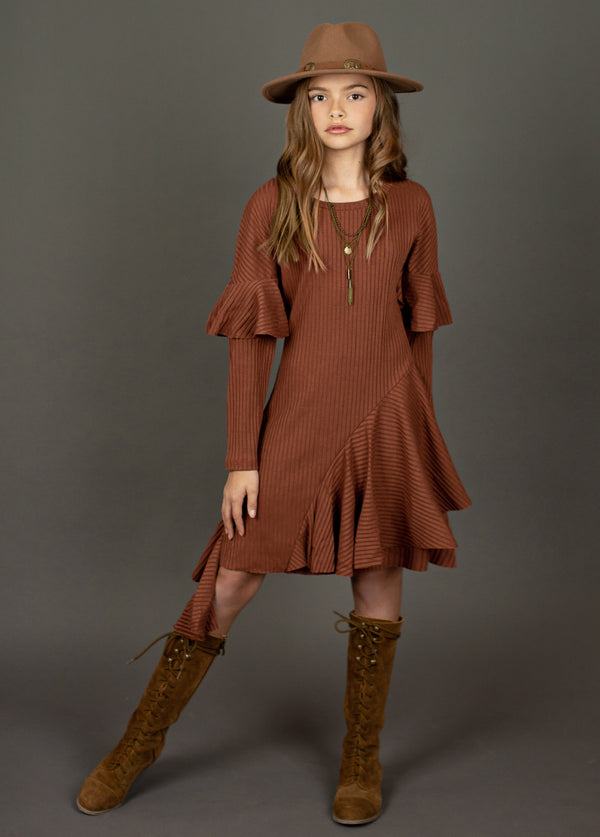 *NEW* Firoja Dress in Brown Clay