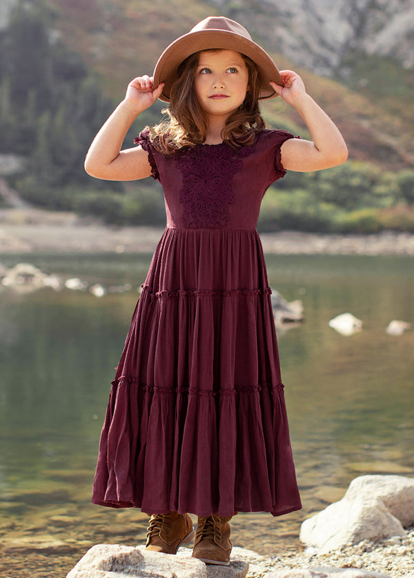 *SOLD OUT* Flossie Dress in Burgundy