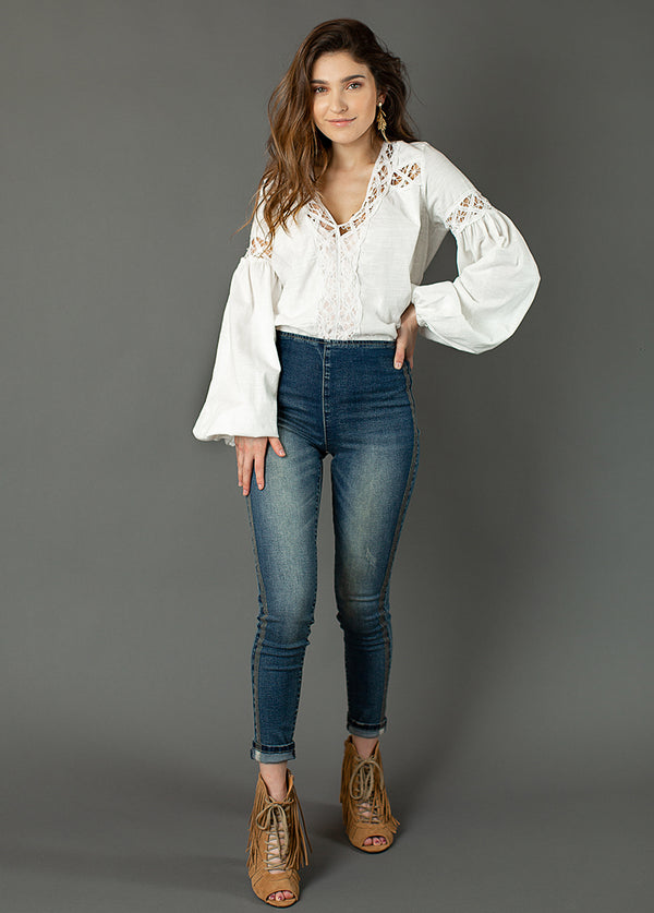 Brytny High-Waisted Denim in Vintage Indigo