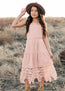 *NEW* Lydia Midi Dress in Rose Dust