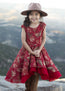 Malaya Dress in Red Floral